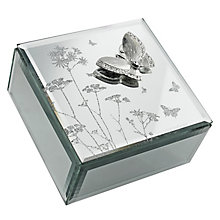 Glass Butterfly & Flowers Jewellery Box - Product number 4768582
