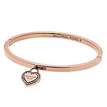 Michael Kors Heritage Rose Gold Tone Heart Bangle - Product number 4769791