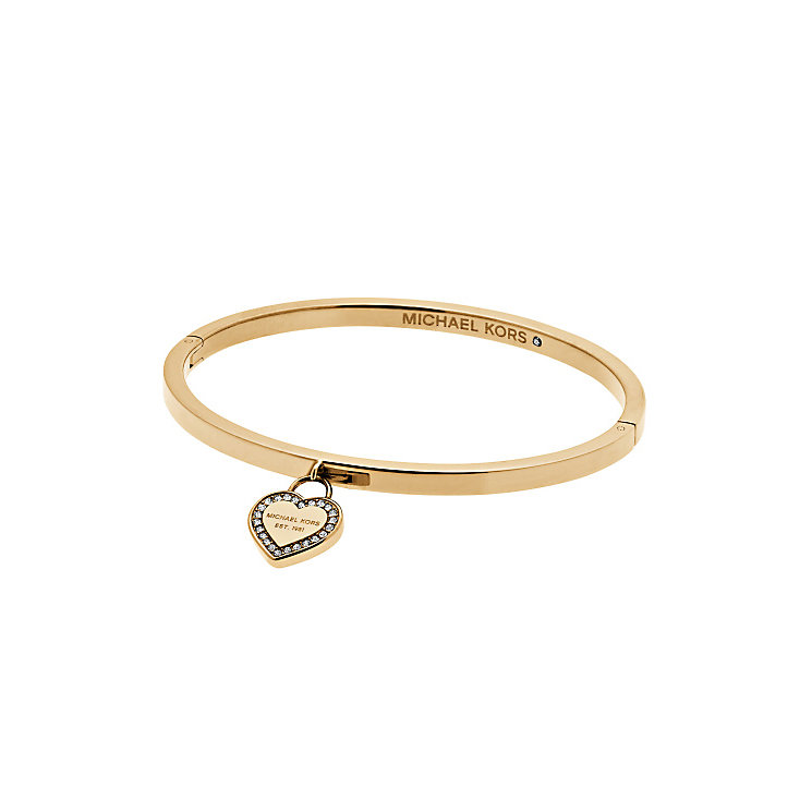 Michael Kors Heritage Gold Tone Heart Bangle - Product number 4769813