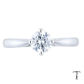 Tolkowsky 18ct White Gold 0.54ct Diamond Solitaire Ring - Product number 4771397