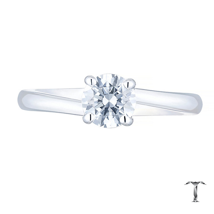 Tolkowsky 18ct White Gold 0.52ct Diamond Solitaire Ring - Product number 4772040