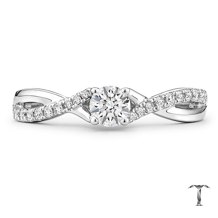 Tolkowsky 18ct White Gold 0.38ct Diamond Solitaire Ring - Product number 4772172