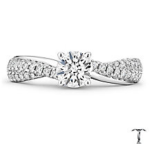 Tolkowsky 18ct White Gold 0.88ct Diamond Solitaire Ring - Product number 4772318