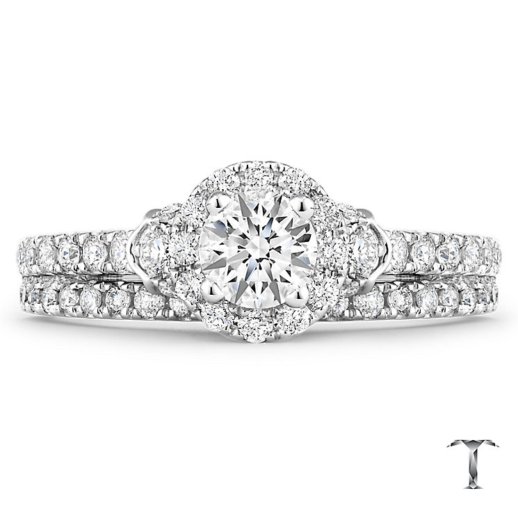 Tolkowsky 18ct White Gold 0.88ct Diamond Bridal Set - Product number 4772431