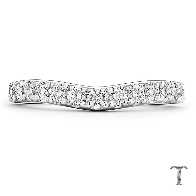 Tolkowsky 18ct White Gold 0.50ct Diamond Shaped Band - Product number 4772830
