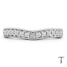 Tolkowsky 18ct White Gold 0.33ct Diamond Shaped Band - Product number 4772970
