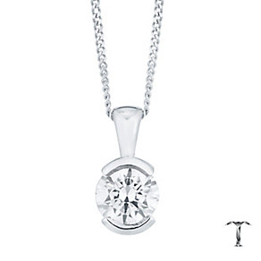 Tolkowsky 18ct White Gold 0.52ct Diamond Pendant - Product number 4773136