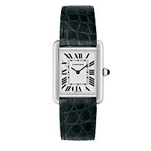 Cartier Tank Solo ladies' black leather strap watch - Product number 4779819