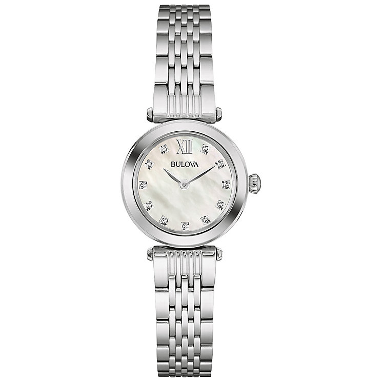 Bulova Ladies' Stainless Steel Stone Set Bracelet Watch - Product number 4786327