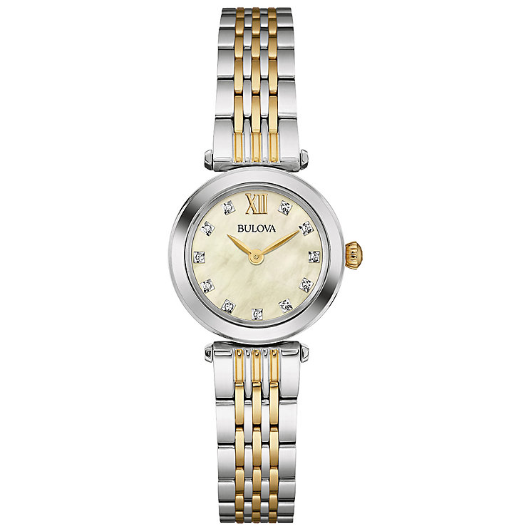 Bulova Ladies' Two Colour Stone Set Bracelet Watch - Product number 4786556