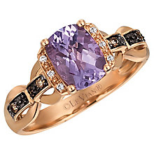 14ct Strawberry Gold Grape Amethyst & Vanilla Diamond Ring - Product number 4787331