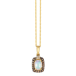 Le Vian 14ct Gold Opal & Vanilla & Chocolate Diamond Pendant - Product number 4787617