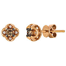 Le Vian 14ct Rose Gold Chocolate & Vanilla Diamond Earrings - Product number 4787838