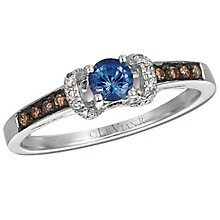 14ct Vanilla Gold Blueberry Sapphire & Vanillia Diamond Ring - Product number 4788109