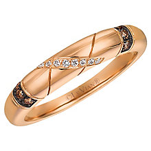 14ct Strawberry Gold Chocolate & Vanilla Eternity Ring - Product number 4788230