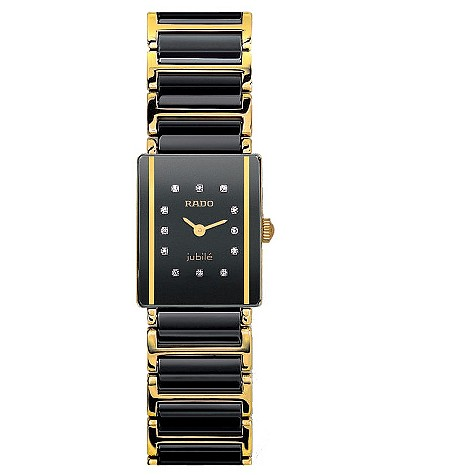 Rado Sintra Jubile ceramic two-colour bracelet diamond watch