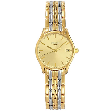Longines Lyre ladies' two-colour bracelet watch