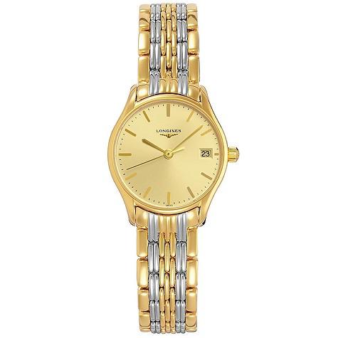 Longines Lyre ladies' two-colour bracelet watch