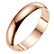 18ct rose gold extra heavy D shape 4mm wedding ring - Product number 4791142