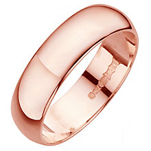 18ct rose gold D shape extra heavy weight 5mm ring - Product number 4791371
