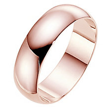 18ct rose gold extra heavy D shape 6mm wedding ring - Product number 4791754