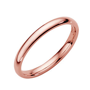 18ct rose gold extra heavy 2mm court ring - Product number 4792653