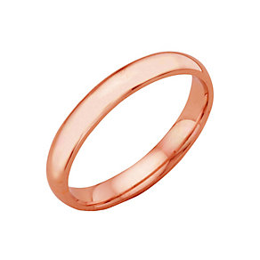 18ct rose gold extra heavy 3mm court ring - Product number 4792904