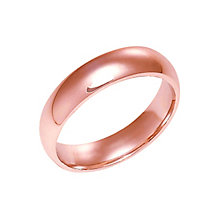 18ct rose gold extra heavy 5mm court ring - Product number 4793145