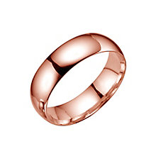 18ct rose gold extra heavy 6mm court ring - Product number 4793463