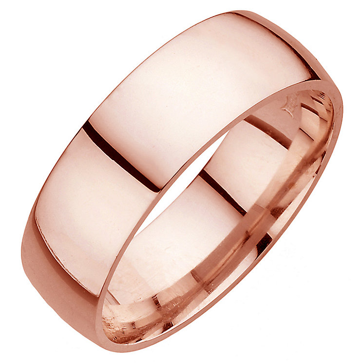 18ct rose gold extra heavy 7mm court ring - Product number 4793781