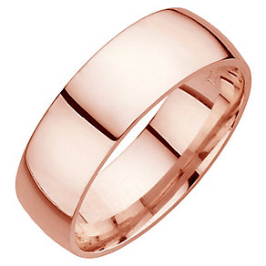 18ct rose gold super heavy court 8mm ring - Product number 4794222