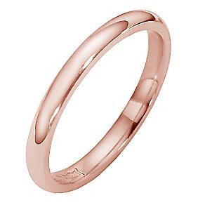18ct rose gold super heavy court ring 2mm - Product number 4794532