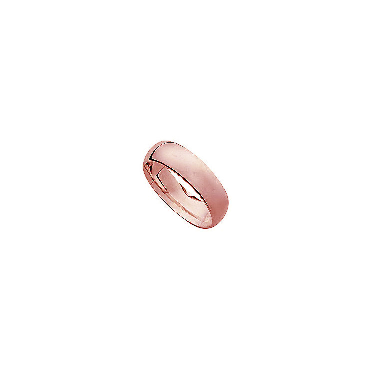 18ct rose gold super heavy court 7mm ring - Product number 4795679