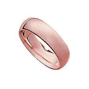 18ct rose gold extra heavy court 7mm ring - Product number 4795679