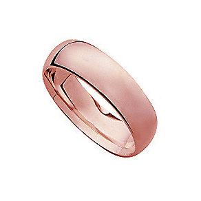 18ct rose gold 8mm extra heavy weight court ring - Product number 4795989