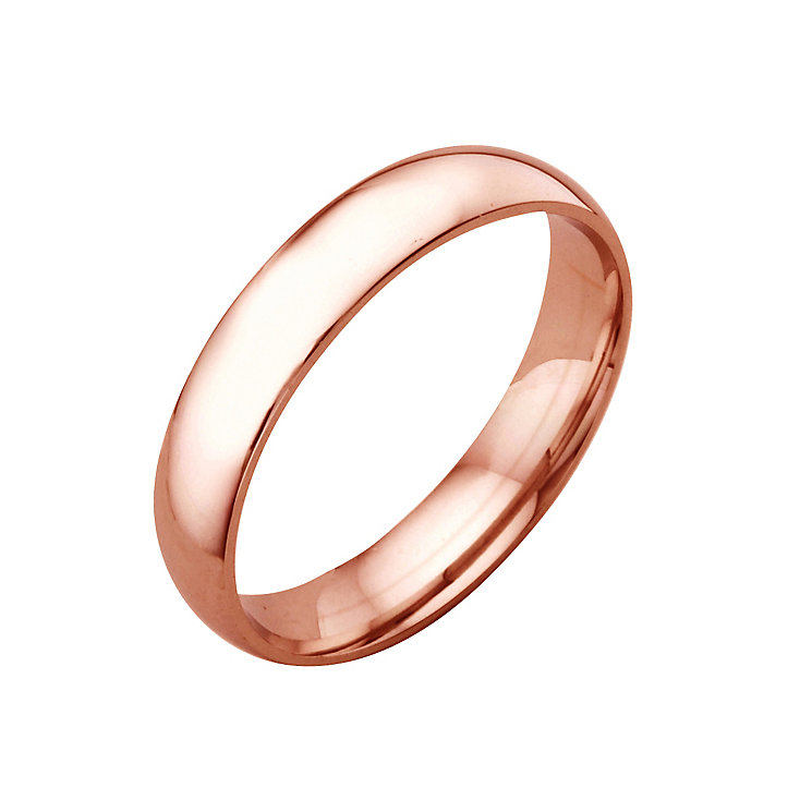 18ct rose gold extra heavy 4mm court ring - Product number 4796799