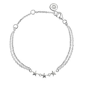 """Molly Brown Sterling Silver 6.5"""" Star Bracelet - Product number 4797531"""