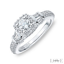 Vera Wang 18ct White Gold 0.95ct Diamond Cushion Halo Ring - Product number 4799232