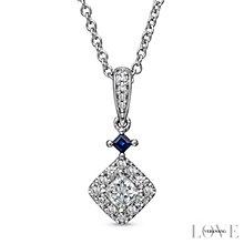 Vera Wang 18ct White Gold 0.37ct Diamond  Pendant - Product number 4800672