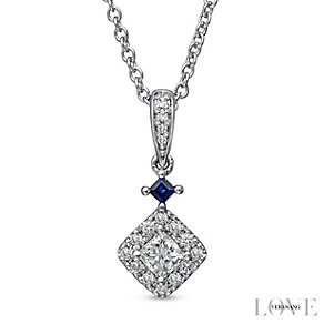 Vera Wang 18ct White Gold 0.37ct Diamond  Pendant - Product number 4800672