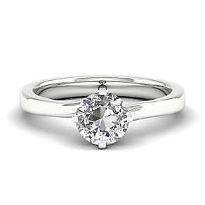 The Diamond Story 18ct White Gold Diamond Crossover Ring - Product number 4801431