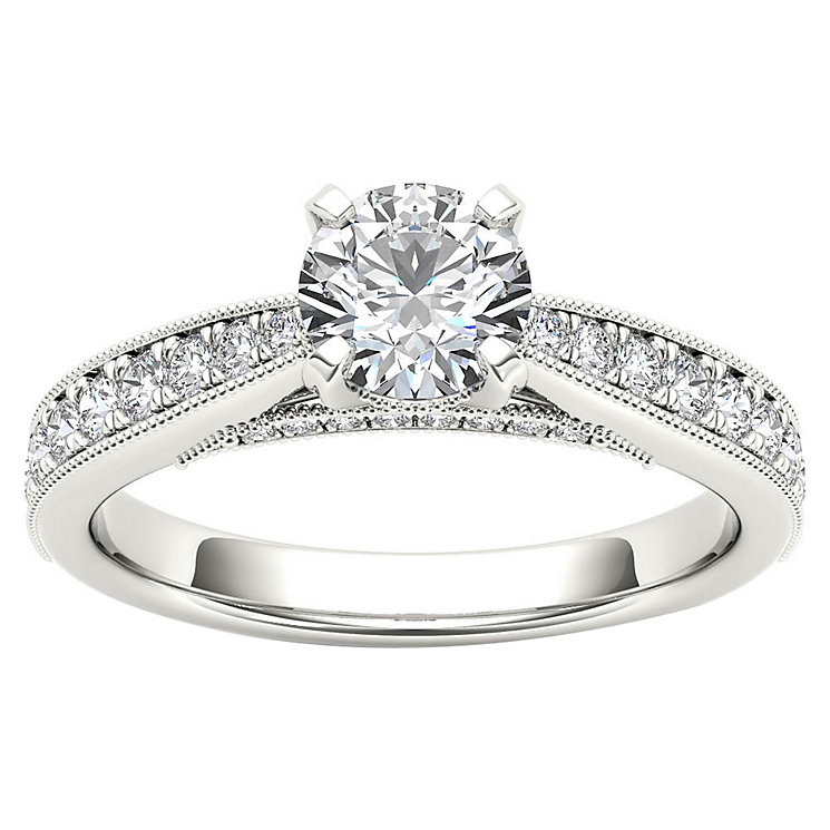 The Diamond Story 18ct White Gold 1ct Diamond Solitaire Ring - Product number 4802624