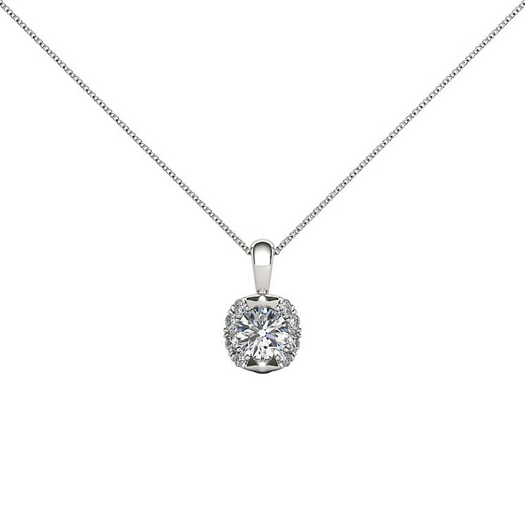 The Diamond Story 18ct White Gold 33Pt Pendant - Product number 4802756