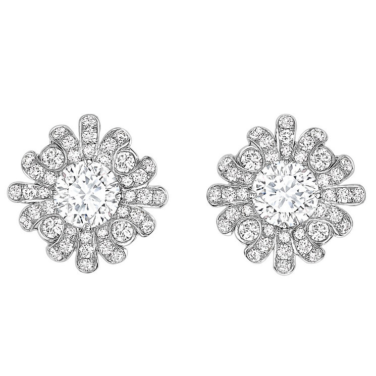 Jan Maarten Asscher 18ct White Gold 1ct Diamond Earrings - Product number 4805224