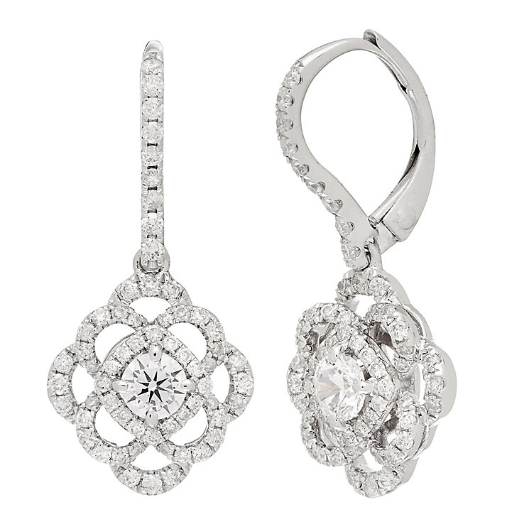 Neil Lane Designs 14ct White Gold 0.95ct Diamond Earrings - Product number 4805313