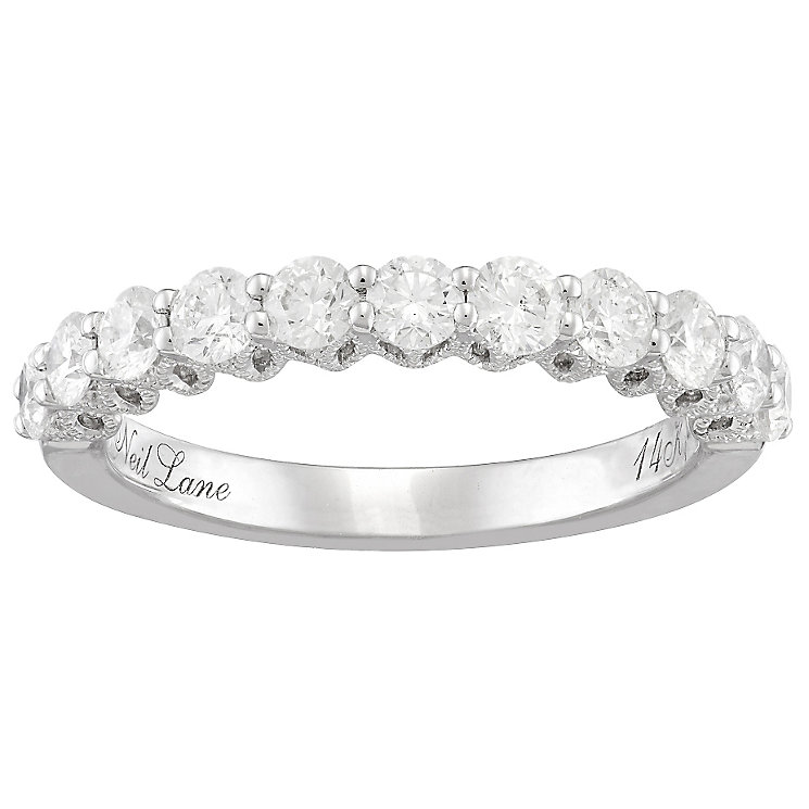 Neil Lane 14ct White Gold 1ct Diamond 11 Stone Band - Product number 4805496
