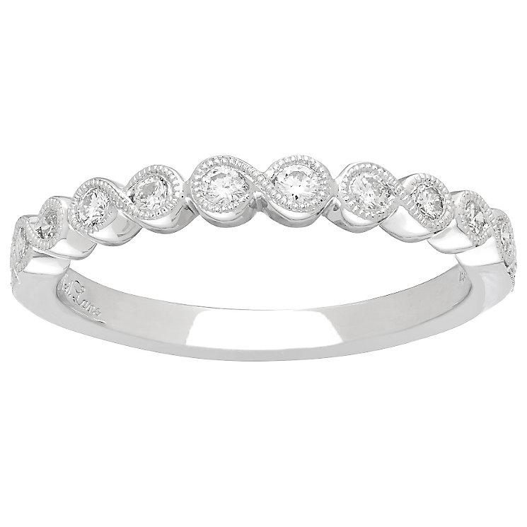 Neil Lane 14ct White Gold Diamond Milgrain Band - Product number 4806107