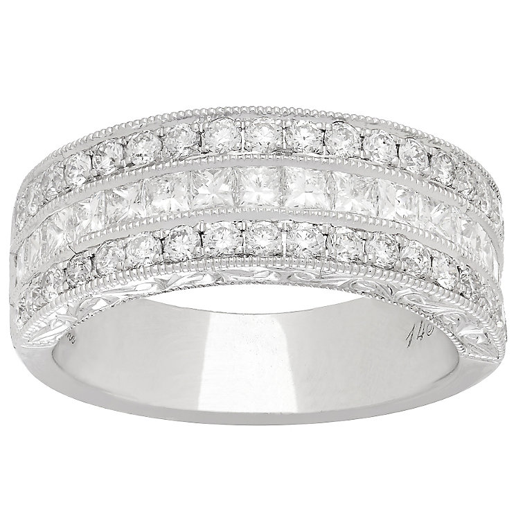 Neil Lane 14ct White Gold 1.45ct Diamond 3 Row Band - Product number 4806697