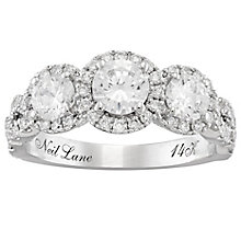 Neil Lane 14ct White Gold 1.5ct Diamond 3 stone Ring - Product number 4806859