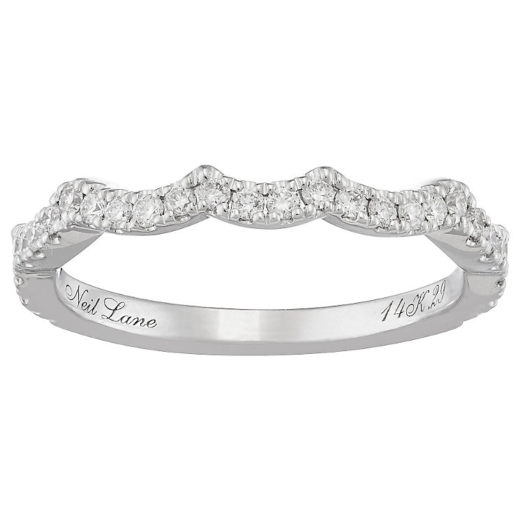 Neil Lane 14ct White Gold Diamond Shaped Band - Product number 4806980